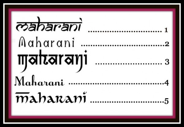 20 Fabulous Fonts | Maharani Weddings