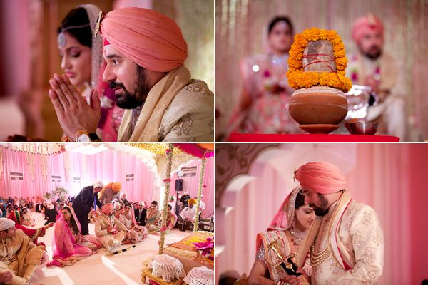 sikh indian wedding with floral and decor ideas for pink theme