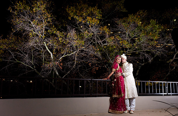 Indian wedding photography of a Indian bride and groom.