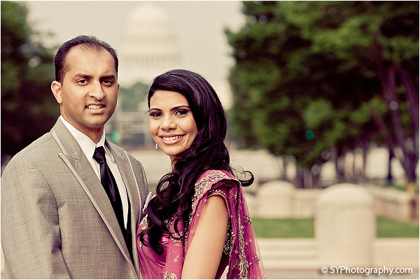 Indian wedding photos capture this Indian bride and groom in D.C.