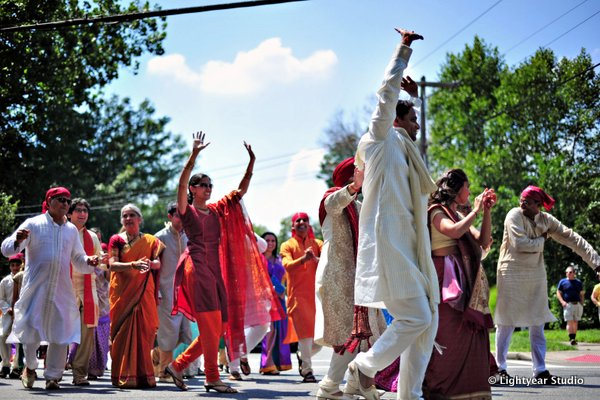 Groom arrives to his Sikh Indian wedding in a baraat