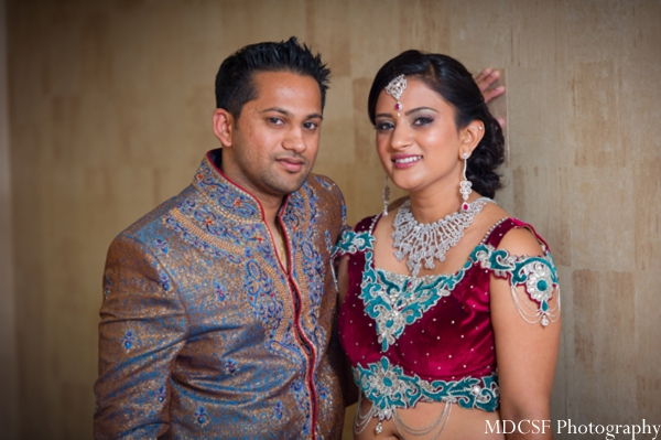 Indian bride and groom prewedding portrait.