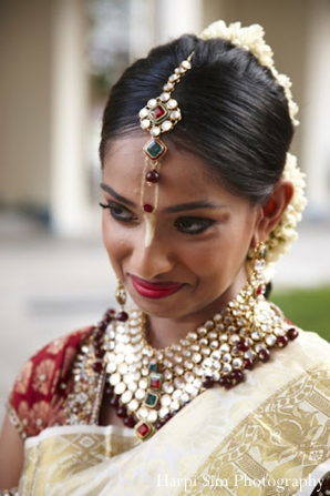 Indian bridal makeup and hair ideas at this Singapore Indian wedding
