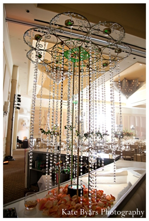 Ideas for indian wedding reception decor for a crystal chandelier.