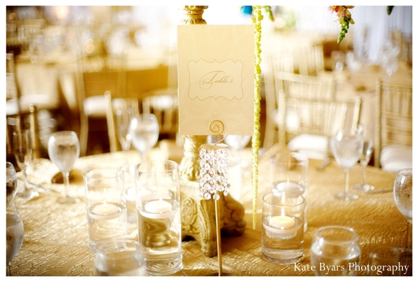 Indian wedding reception decor place cards for tablesetting.
