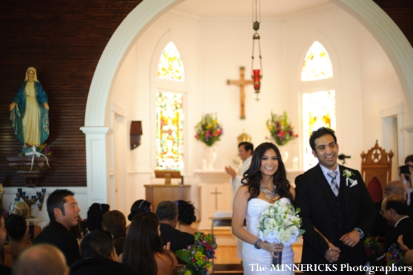 an indian bride and groom wed at this chapel for their fusion indian wedding.