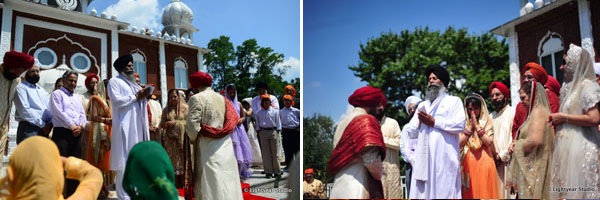A Sikh wedding begins in New York.