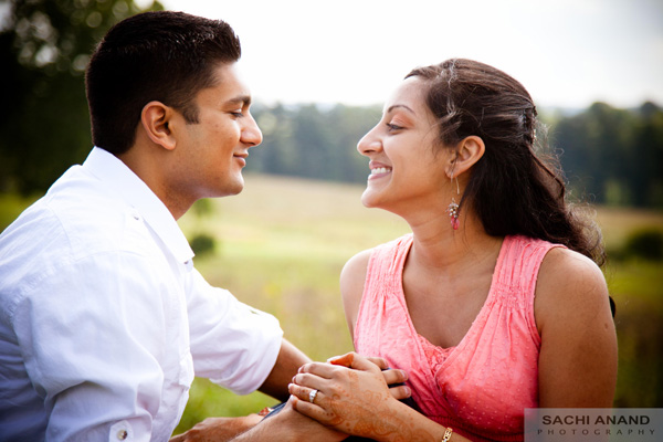 Indian wedding photography for engagement photos.