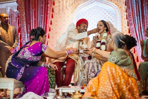 Indian wedding traditions at this elegant Atlanta Indian wedding ceremony.