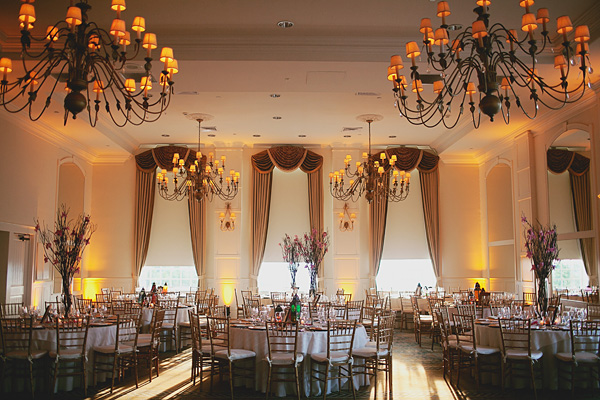 Modern wedding decoration for this fusion Indian wedding.