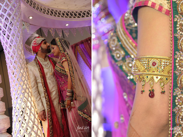 Indian wedding wear featured in this Indian wedding photography.