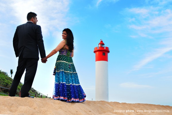 South african indian wedding photography with an Indian bride and groom.