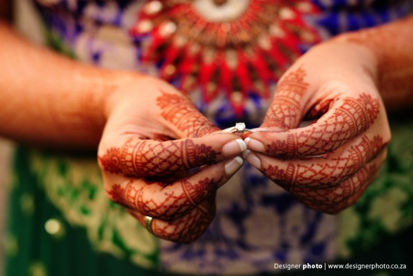 Bridal mehndi shown in indian wedding photography.