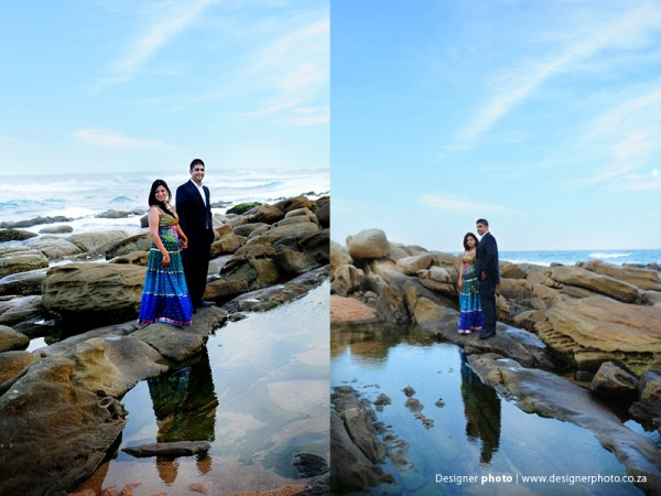 Indian bride and groom in South Africa get ready for their Indian wedding.