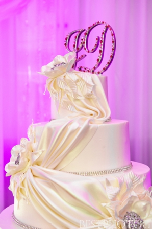A modern Indian wedding cake.