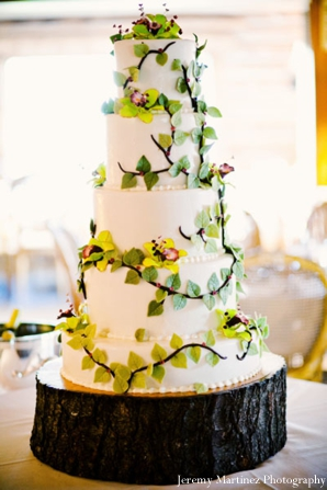 Indian wedding cake ideas for nature lovers.