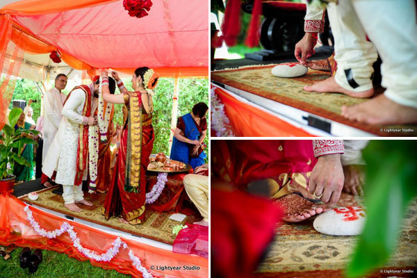 South Indian wedding traditions.