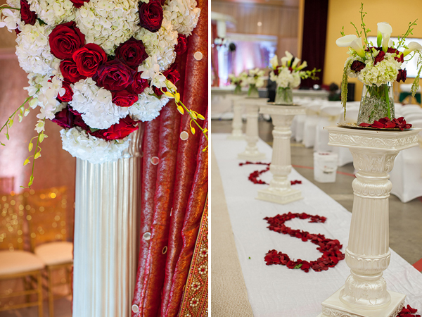 Indian wedding decor at this elegant Indian wedding ceremony.
