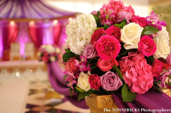 Indian wedding ideas for floral centerpieces.