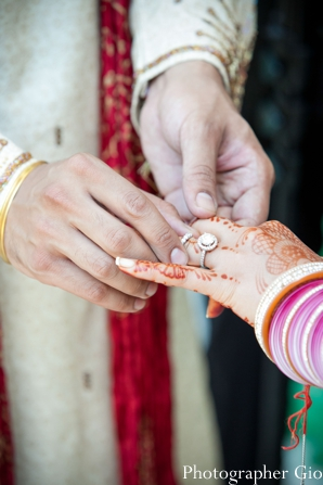 Closeup of bridal henna at this Sikh indian wedding.
