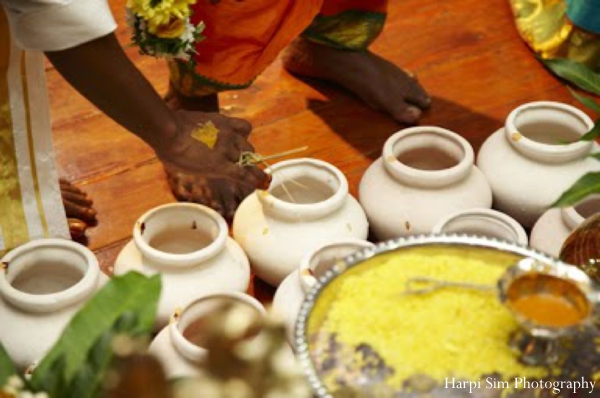 Indian wedding traditions with turmeric.