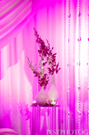 Beautiful wedding floral ideas for an Indian wedding reception.