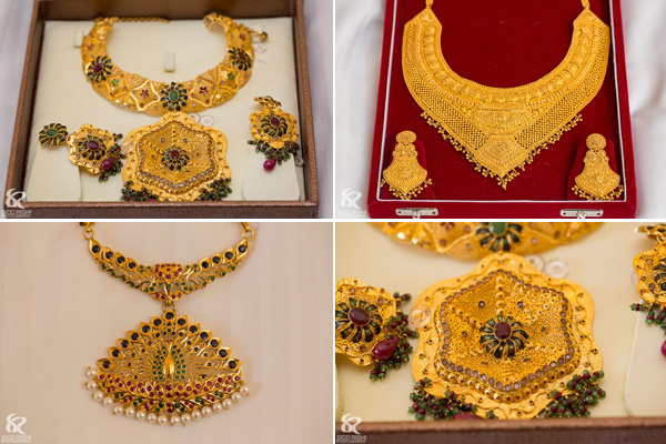 Indian bridal jewelry for a fusion Indian wedding.