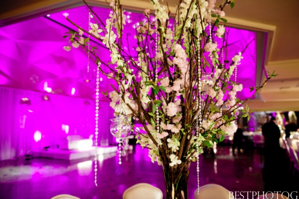 Wedding floral ideas at an Indian wedding reception in New Jersey.