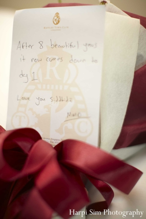 A note to an Indian bride from her groom for their indian wedding.