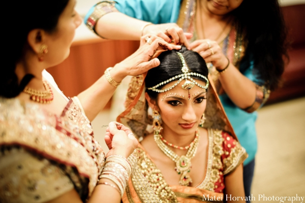 Indian wedding makeup for an Indian bride.