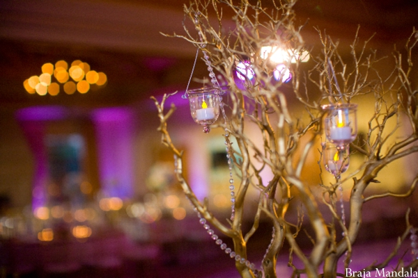 Indian wedding reception centerpiece ideas.