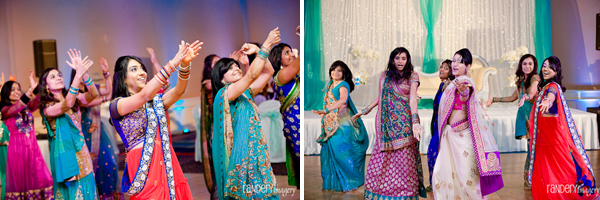 Indian wedding wear includes colorful wedding saris.