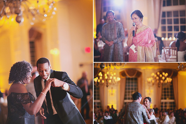 Indian wedding photography captures dancing and speeches at this fusion Indian wedding.