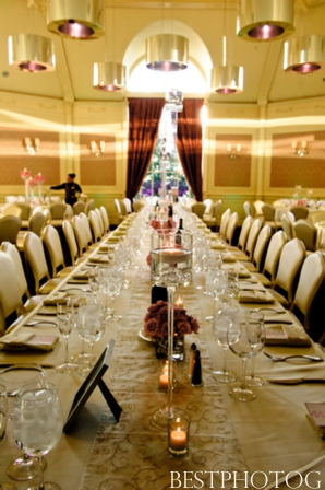 Tablesetting ideas from a modern Indian wedding reception.