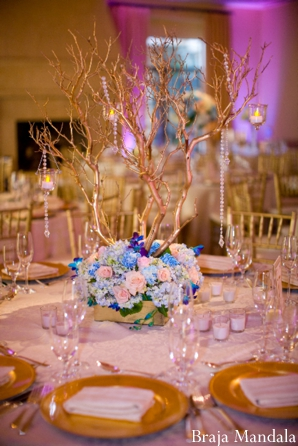 Indian wedding centerpieces for floral decor and indian wedding reception ideas.