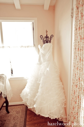 A white wedding dress ballgown for a fusion Indian bride.