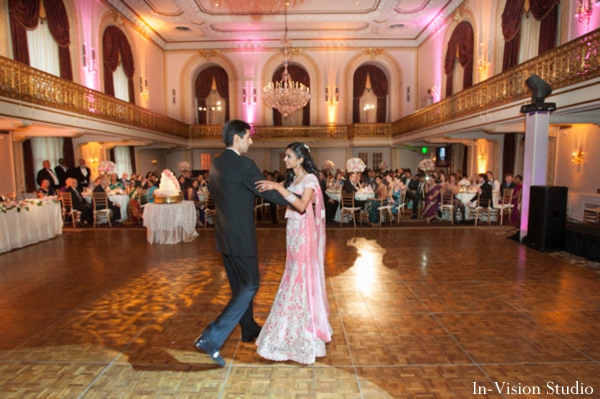 Indian bride and groom take the dancefloor