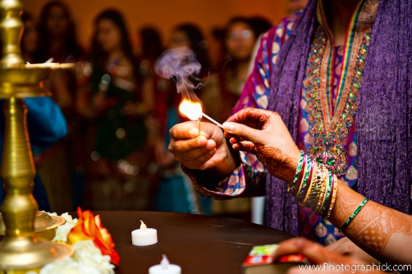 Indian wedding traditions at a garba party.