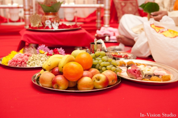 Fruits at the indian wedding ceremony.