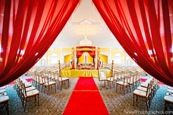 Indian wedding themes in red and yellow.