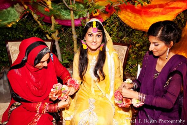 Pakistani bride at her modern Pakistani wedding ceremony.