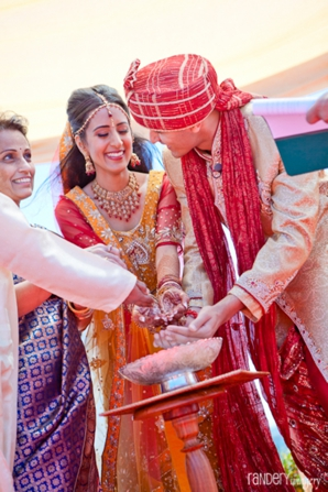 Indian wedding rituals between indian bride and groom