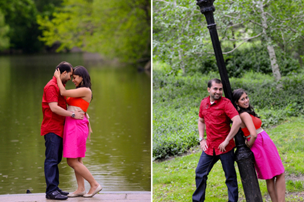 Ideas for an indian wedding engagment shoot in park.