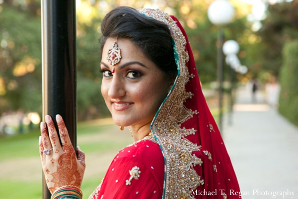 Pakistani bride hair and makeup ideas for wedding.