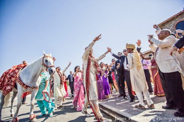 indian wedding begins with a baraat