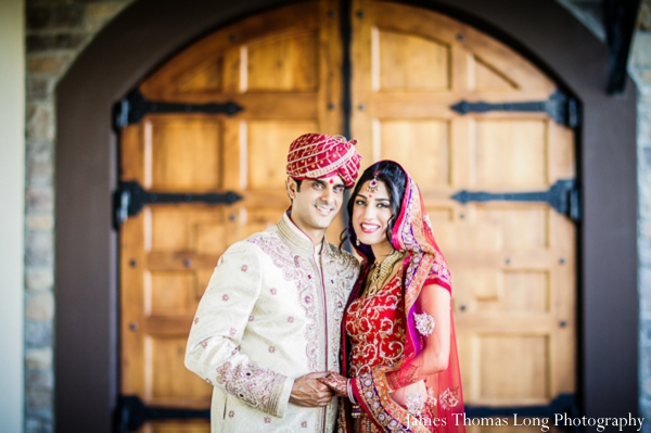 indian bride and groom after indian wedding ceremony