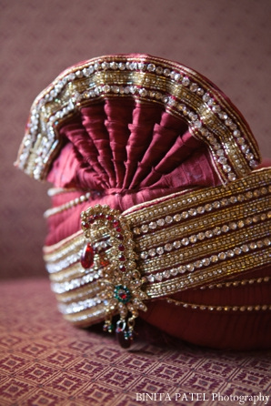 Traditional indian groom turban hat.