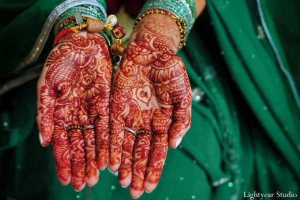 Bridal mehndi close up.