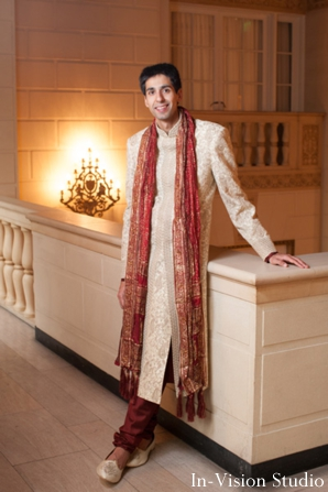 Groom is ready for his indian wedding ceremony.