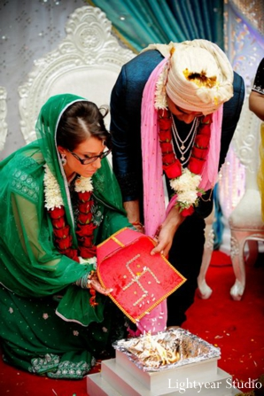Traditional hindu ceremony for a modern indian bride and groom.